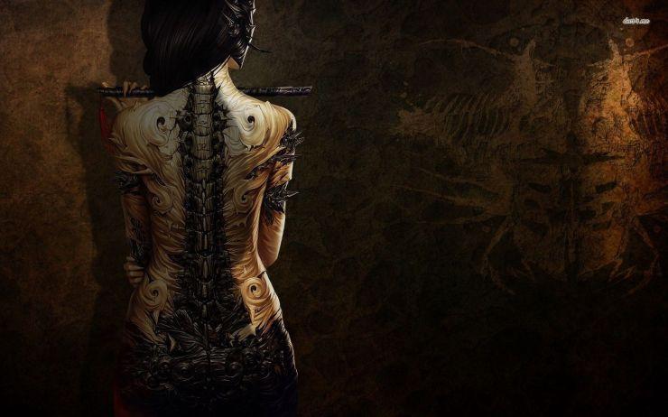 staempunk tattoo x digital art wallpaper