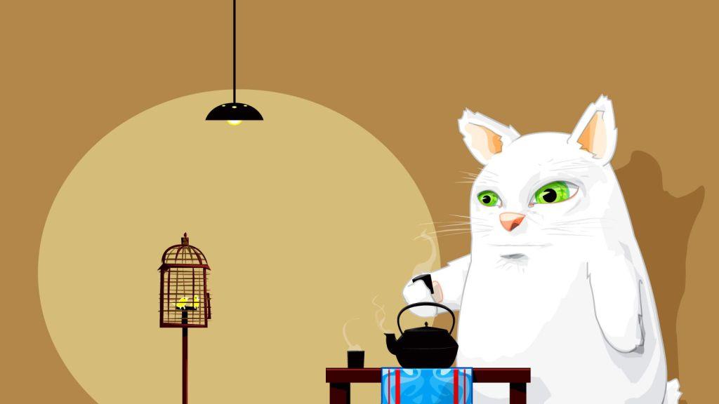 cat cartoon wallpaper
