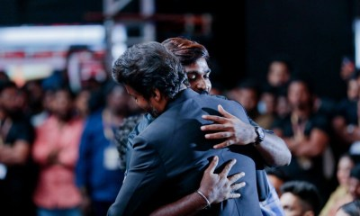 Vijay and Vijay Sethupathi Hug