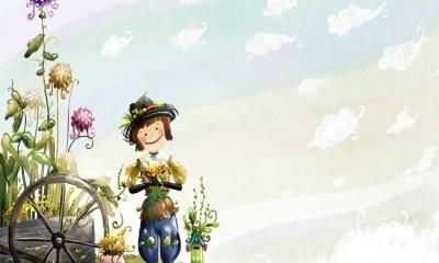 girl cartoon wallpaper
