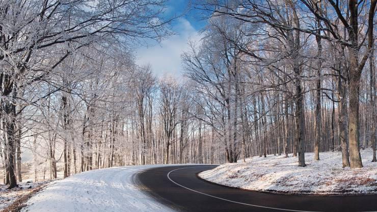 HD Winter road wallpaper Desktop 1920p