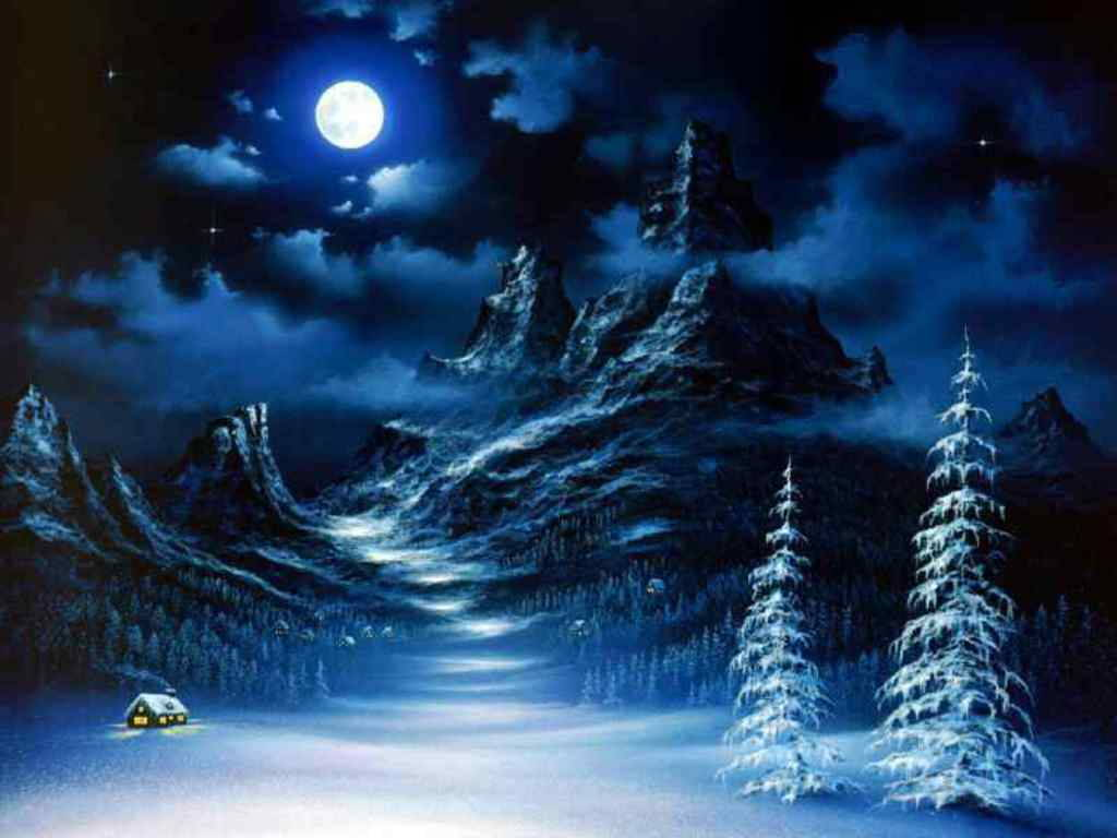 Hd Winter Scenes Desktop Wallpaper Desktop 1024p Hd Background