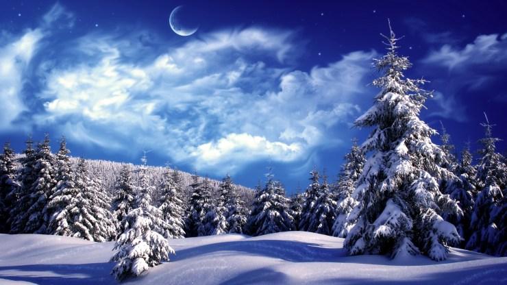 christmas winter scenes wallpaper