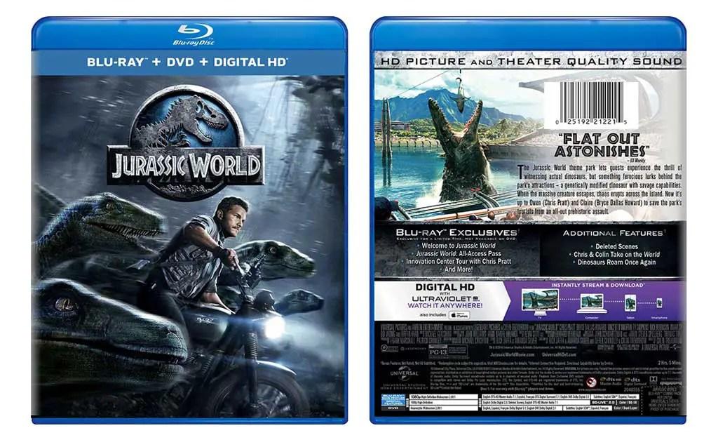 Giveaway Jurassic World Blu Ray Combo Edition WDigital