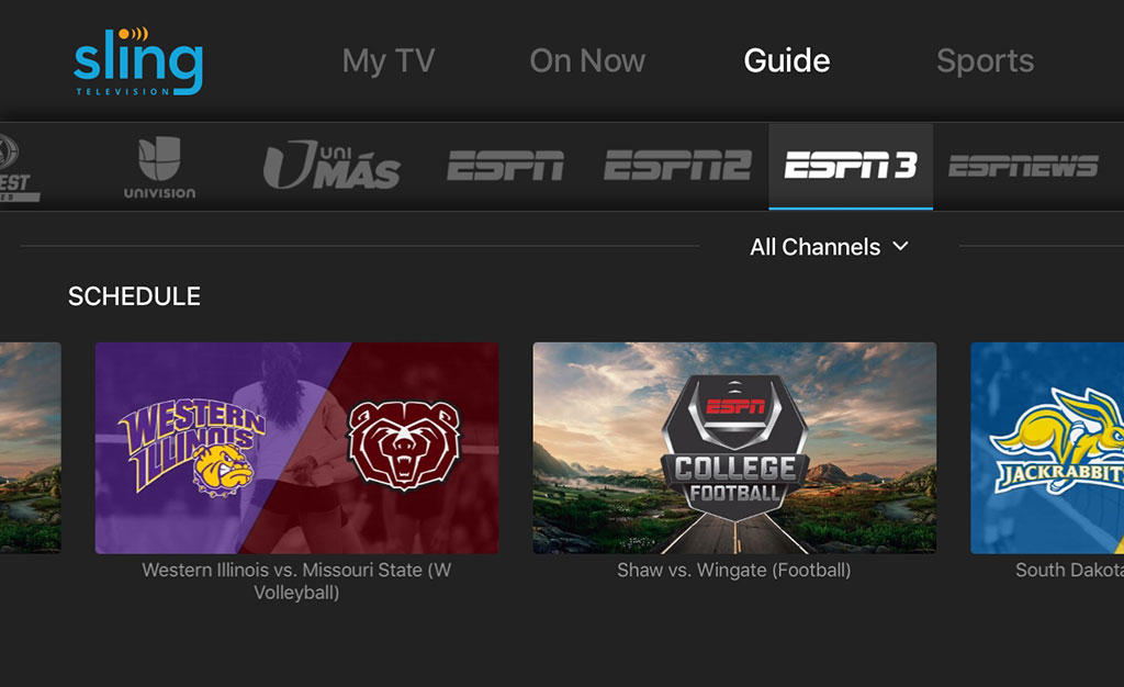 ESPN3  SEC Network Added To Sling TV Lineup  HD Report