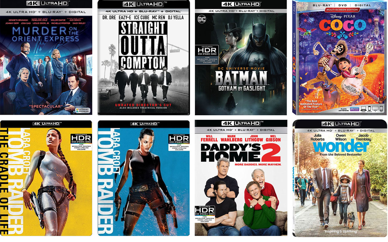 New 4k Ultra HD Blu Ray Movies Hitting Stores In February