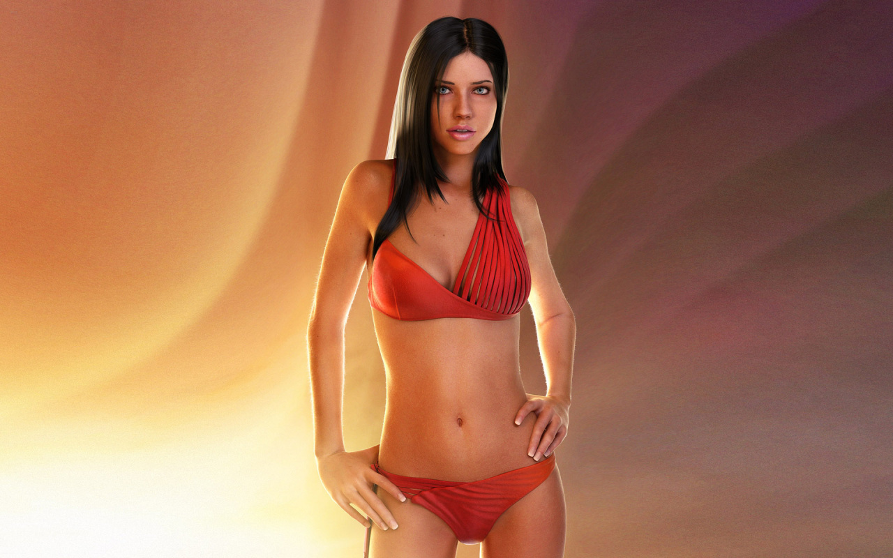 Linux Wallpaper Girls Adriana Lima Painting Hd Wallpaper 171 Hd Wallpapers