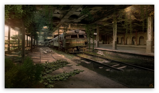 Iphone Cowboys Wallpaper Abandoned Train Station 4k Hd Desktop Wallpaper For 4k
