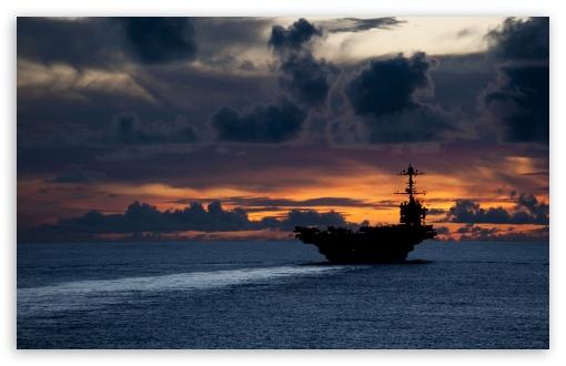 Aircraft Carrier Hd Wallpaper Aircraft Carrier At Sunset 4k Hd Desktop Wallpaper For