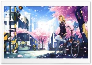 anime hd desktop manga 4k wallpapers wallpaperswide ultra background scenery 1080p spring 1440p bike nightcore sitting widescreen tablet felt flow