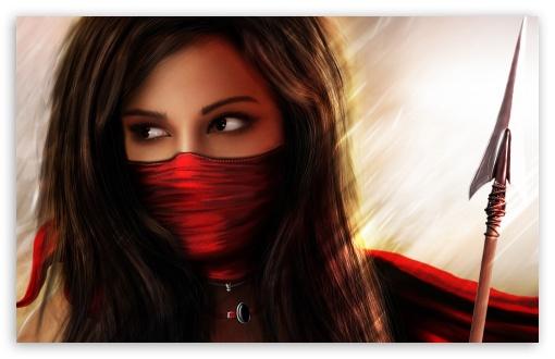 Ninja Fantasy Girl Wallpaper Beautiful 4k Hd Desktop Wallpaper For 4k Ultra Hd Tv