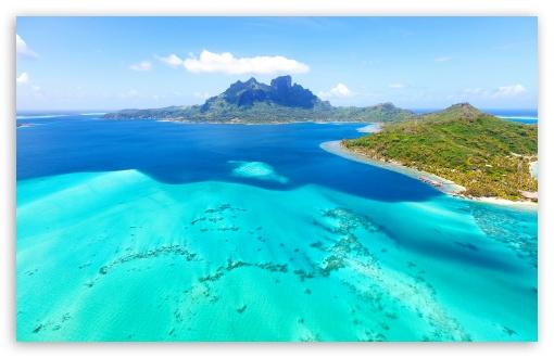 beautiful blue tropical landscape