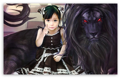 black lion 4k hd