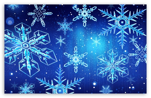 Falling Snow Wallpaper Widescreen Blue Snowflakes New Year 4k Hd Desktop Wallpaper For 4k