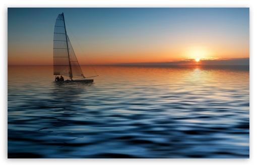 Boat At Sea 4K HD Desktop Wallpaper For 4K Ultra HD TV