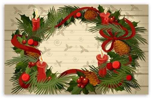 Hd Widescreen Christmas Desktop Wallpaper Christmas Wreath Vector 4k Hd Desktop Wallpaper For 4k
