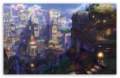 Fantasy Town Ultra HD Desktop Background Wallpaper for 4K UHD TV : Tablet : Smartphone