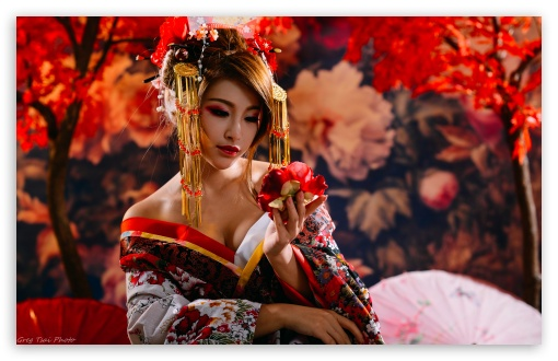 Beautiful Girl With Gun Wallpaper Japanese Woman Ultra Hd Desktop Background Wallpaper For