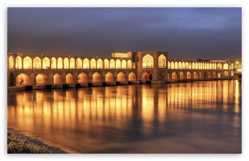 Khaju Bridge At Dusk, Isfahan, Iran HD wallpaper for Standard 4:3 5:4 Fullscreen UXGA XGA SVGA QSXGA SXGA ; Wide 16:10 5:3 Widescreen WHXGA WQXGA WUXGA WXGA WGA ; HD 16:9 High Definition WQHD QWXGA 1080p 900p 720p QHD nHD ; Other 3:2 DVGA HVGA HQVGA devices ( Apple PowerBook G4 iPhone 4 3G 3GS iPod Touch ) ; Mobile VGA WVGA iPhone iPad PSP Phone - VGA QVGA Smartphone ( PocketPC GPS iPod Zune BlackBerry HTC Samsung LG Nokia Eten Asus ) WVGA WQVGA Smartphone ( HTC Samsung Sony Ericsson LG Vertu MIO ) HVGA Smartphone ( Apple iPhone iPod BlackBerry HTC Samsung Nokia ) Sony PSP Zune HD Zen ; Tablet 2 Android ; Dual 4:3 5:4 16:10 5:3 16:9 UXGA XGA SVGA QSXGA SXGA WHXGA WQXGA WUXGA WXGA WGA WQHD QWXGA 1080p 900p 720p QHD nHD ;