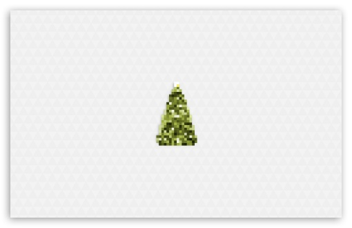 Merry Christmas Tree Daylight Ultra HD Desktop Background