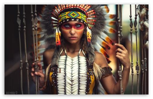 native american girl 4k