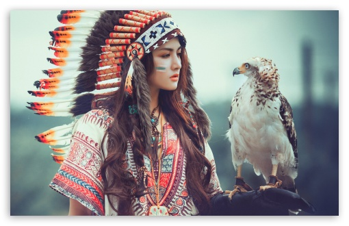 native american girl with