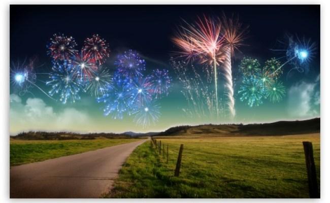 New Years New Zeland Fireworks 4k Hd Desktop Wallpaper For