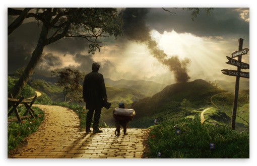 Hd Wallpaper Ipad 3 Oz The Great And Powerful Finley And Oscar James Franco