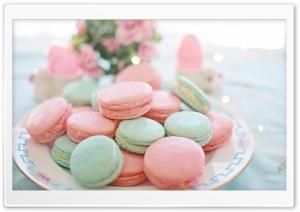 aesthetic hd food pastel macarons wallpapers desktop display wallpaperswide wide tablet