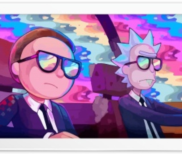 Rick And Morty Car Rainbow Hd Wide Wallpaper For K Uhd Widescreen Desktop Smartphone