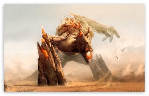 Rock Monster Painting 4K HD Desktop Wallpaper For 4K Ultra
