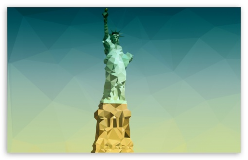 Statue Of Liberty Wallpaper Iphone Statue Of Liberty Low Poly 4k Hd Desktop Wallpaper For