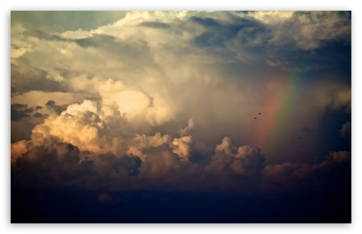 Ipad Mini Wallpaper Hd Storm Clouds And Rainbow 4k Hd Desktop Wallpaper For 4k