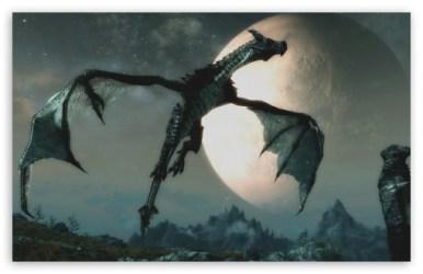 The Dragon and the Moon Ultra HD Desktop Background Wallpaper for 4K UHD TV : Widescreen & UltraWide Desktop & Laptop : Tablet : Smartphone
