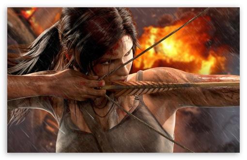 Archery Wallpaper Hd Tomb Raider Lara Croft Bow 4k Hd Desktop Wallpaper For