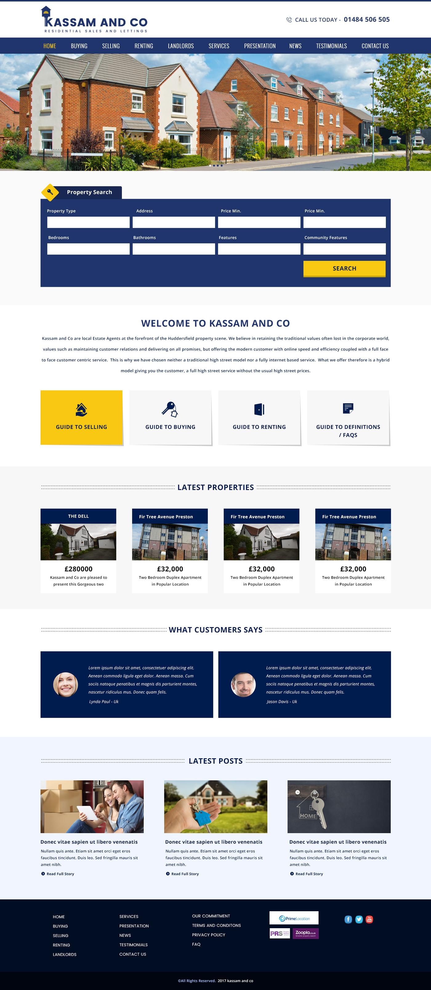 Kassam & Co Property, Property Website Design, Property Web Design