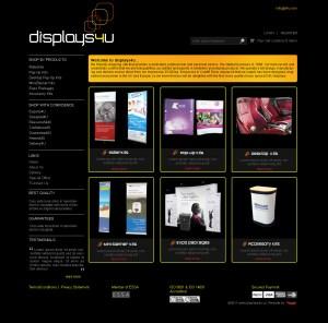 ecommerce website design, display printing, merchandise printing, online shop