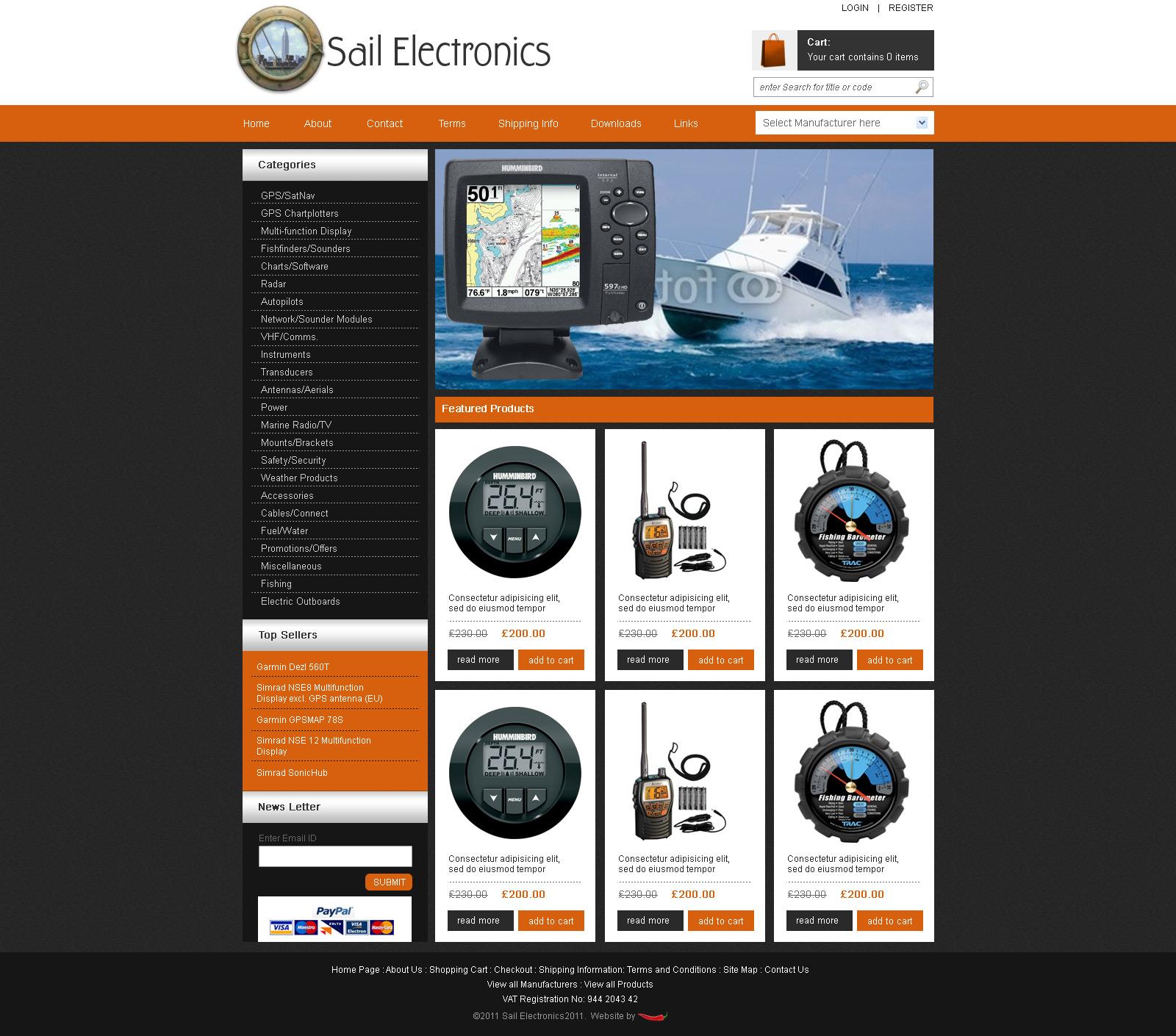 Electronics ecommerce website, ecom website, online shop