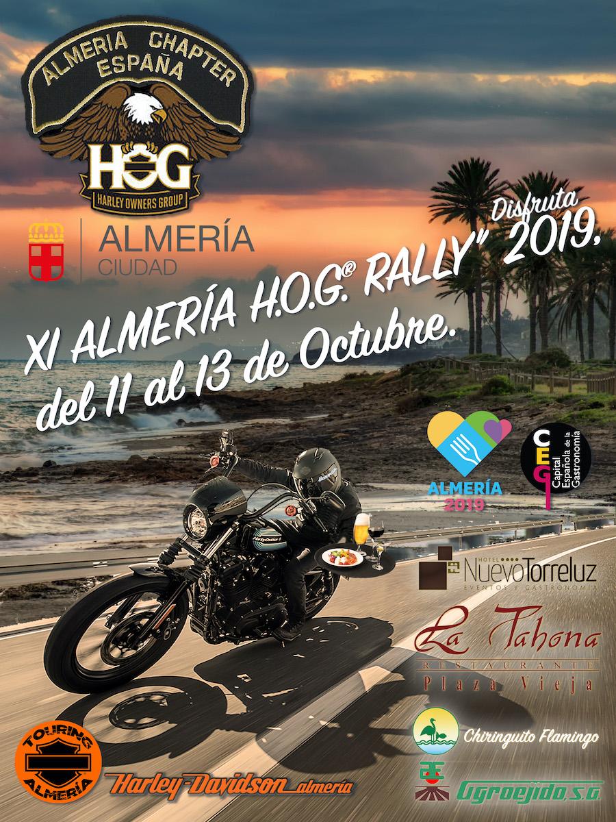 XI ALMERIA H.O.G. RALLY 2019 11 al 13 Octubre