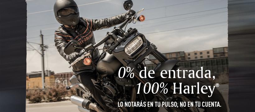 0% de entrada, 100% Harley