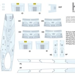 Uss Enterprise Diagram 1995 Nissan Pickup Radio Wiring 537 600 Scale A Blue Strongback Deflector Housing Quick View