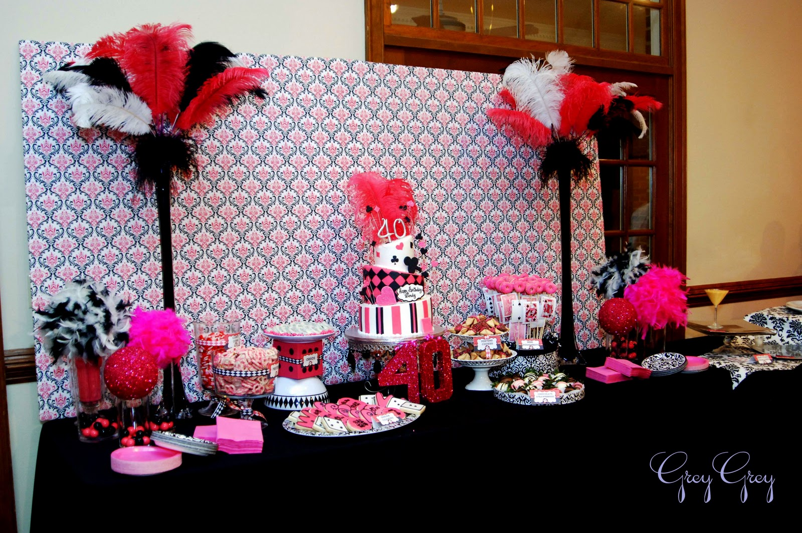 Pink And Black Party Decorations 1 Desktop Wallpaper
