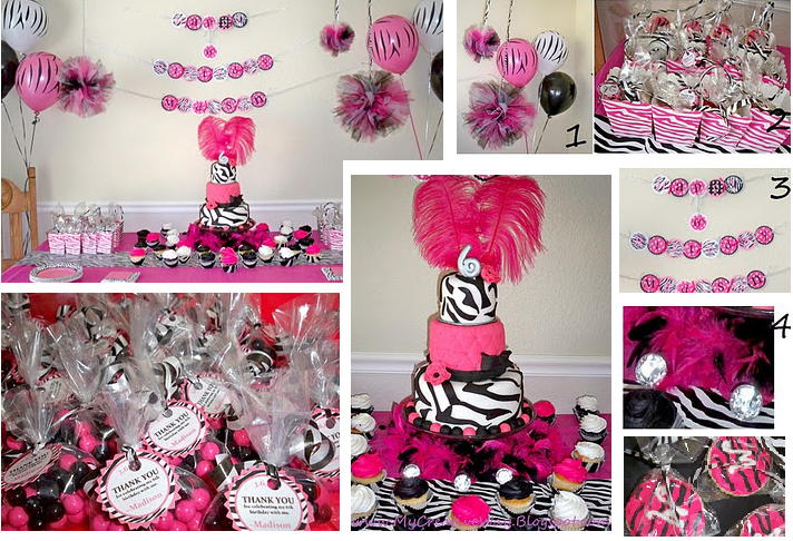 Pink And Black Party Decorations 23 Cool Wallpaper