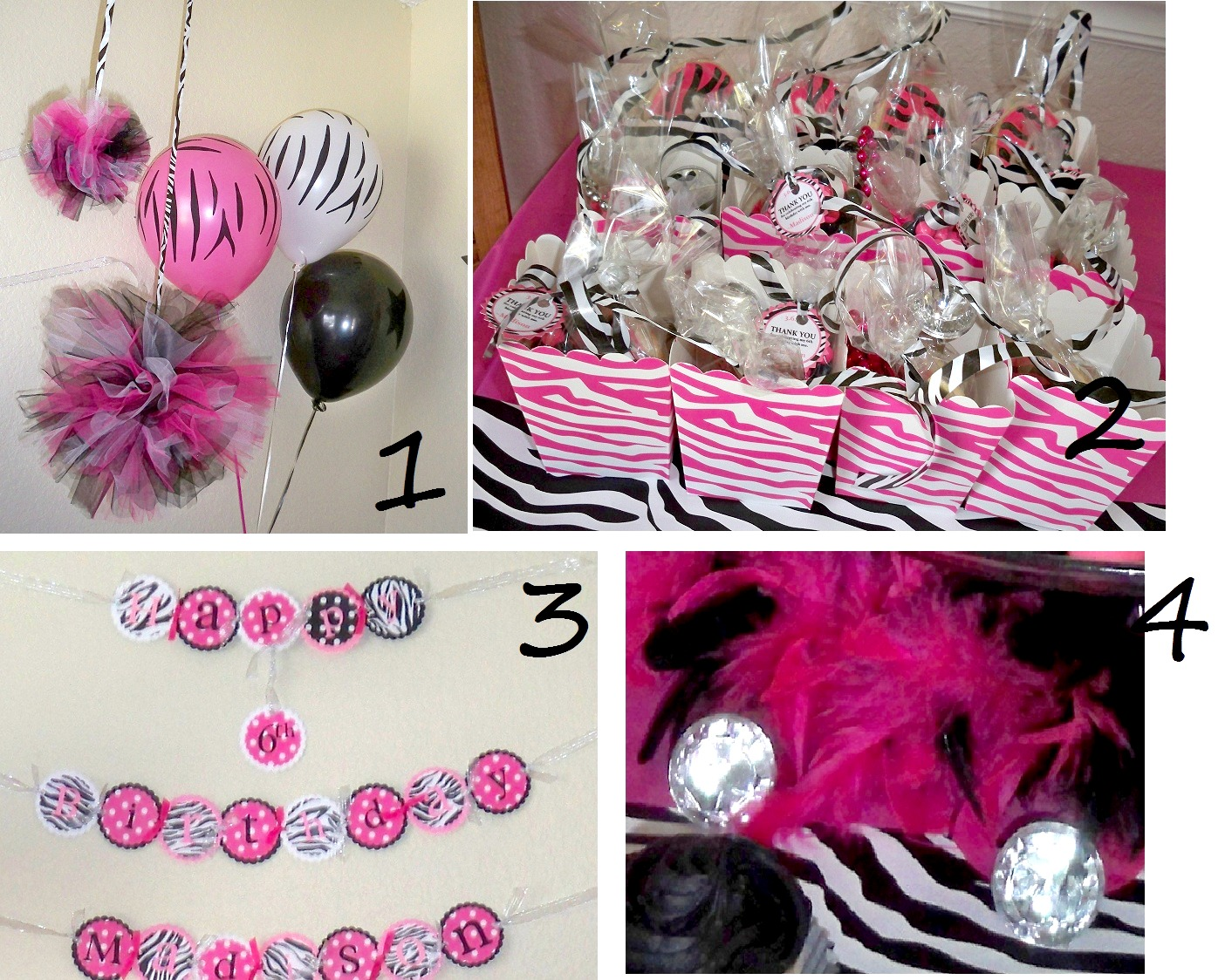 Pink And Black Party Decorations 9 High Resolution
