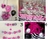 Pink And Black Party Decorations 3 Background Wallpaper ...