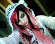 pink and black hair 40 hd wallpaper