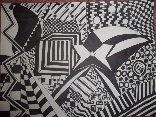 Black and White Drawing Patterns