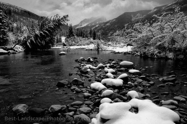 Black And White Landscape 34 Background