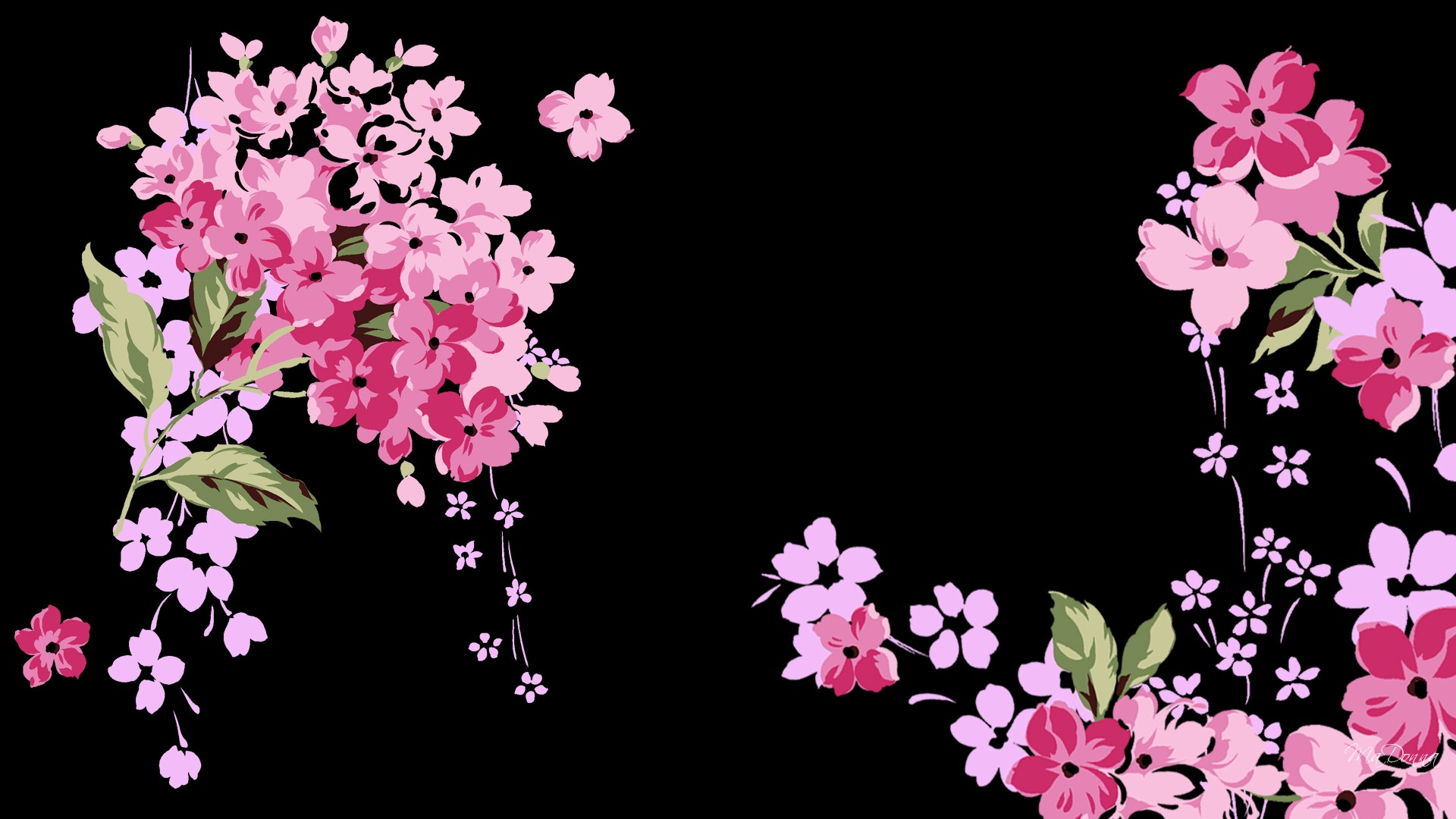 Cute Black And Pink Wallpaper 1 Free Wallpaper