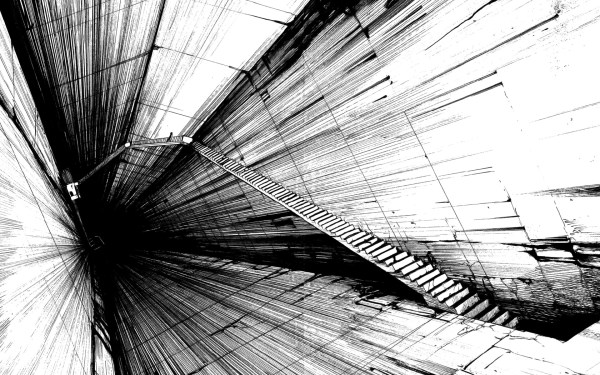 Cool Black and White Abstract